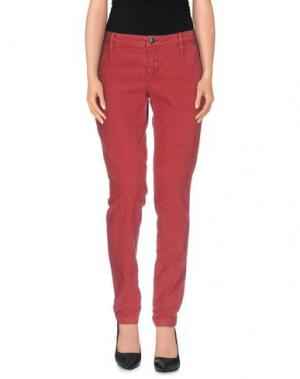 Повседневные брюки DEPARTMENT 5. Цвет: кирпично-красный