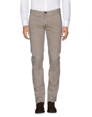 Повседневные брюки BARBA Napoli. Цвет: песочный