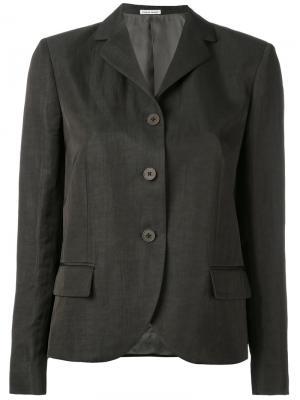 Пиджак с укороченными лацканами Tomas Maier. Цвет: зелёный