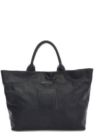 Синяя кожаная сумка с короткими ручками Io Pelle. Цвет: синий