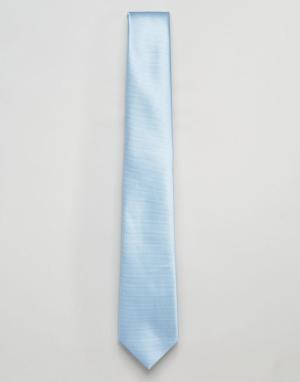 ASOS Голубой галстук Wedding. Цвет: синий