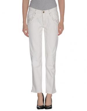 Джинсовые брюки JECKERSON. Цвет: слоновая кость