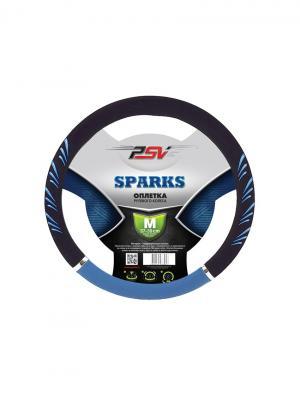 Оплётка на руль PSV SPARKS. Цвет: синий