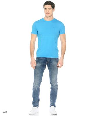 Футболка Colin's. Цвет: серо-голубой, голубой