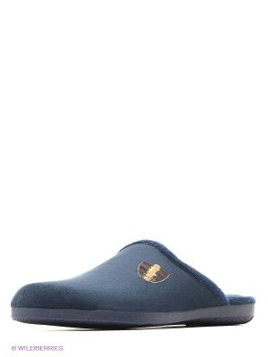Тапочки Mon Ami. Цвет: серо-голубой