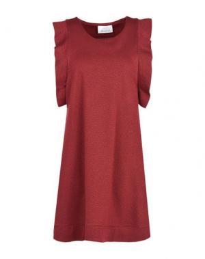 Короткое платье GEORGE J. LOVE. Цвет: красно-коричневый