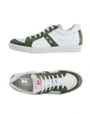 Низкие кеды и кроссовки D'ACQUASPARTA. Цвет: зеленый-милитари