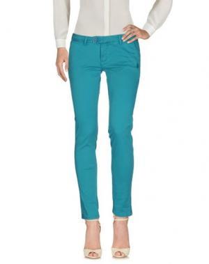 Повседневные брюки DUCK FARM. Цвет: бирюзовый