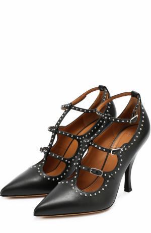 Кожаные туфли с заклепками Givenchy. Цвет: черный