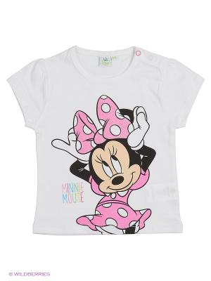Футболка Minnie Mouse. Цвет: белый