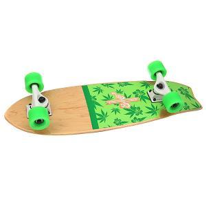 Скейт мини круизер  Surf Hawaii Green 8.25 x 27 (68.5 см) Eastcoast. Цвет: зеленый,бежевый