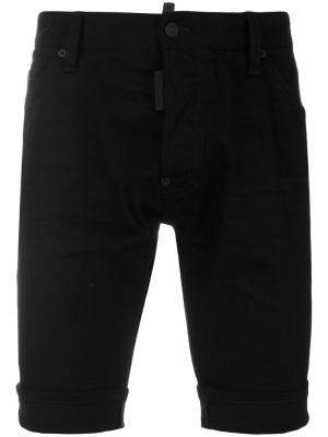 Джинсовые шорты Dsquared2. Цвет: чёрный