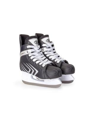 Коньки хоккейные Ranger 11 Larsen. Цвет: черный, серебристый, белый