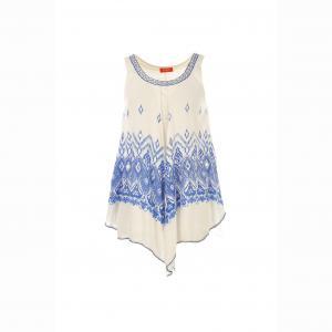 Блузка без рукавов RENE DERHY. Цвет: белый