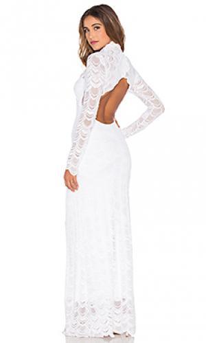 Кружевное вечернее платье в викторианском стиле Nightcap. Цвет: белый