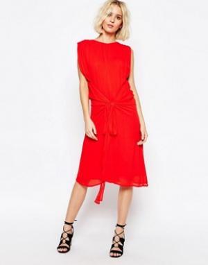Paisie Платье с завязкой на талии. Цвет: красный