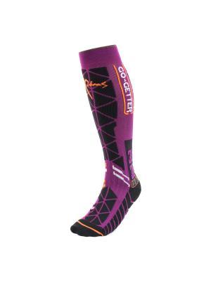 Носки Pim's. Цвет: фиолетовый