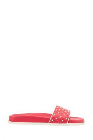 Розовые кожаные сандалии Free Rockstud Spike Valentino. Цвет: розовый