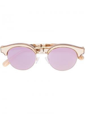 Солнцезащитные очки Cleopatra Le Specs. Цвет: розовый и фиолетовый