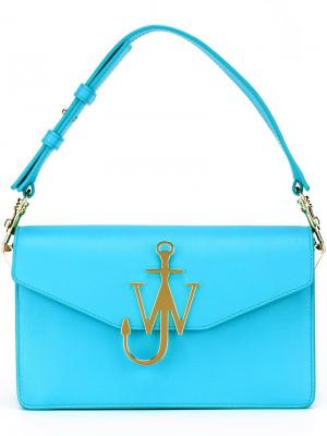 Сумка с бляшкой-логотипом J.W.Anderson. Цвет: синий