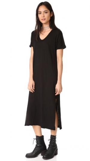 Платье с короткими рукавами Stateside. Цвет: голубой