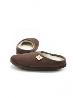 Тапочки ALWERO. Цвет: темно-коричневый
