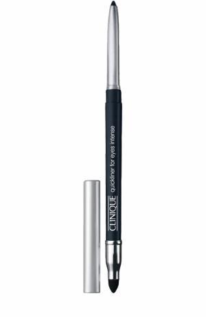 Автоматический карандаш для глаз с растушевкой, оттенок Intense Midnight Clinique. Цвет: бесцветный