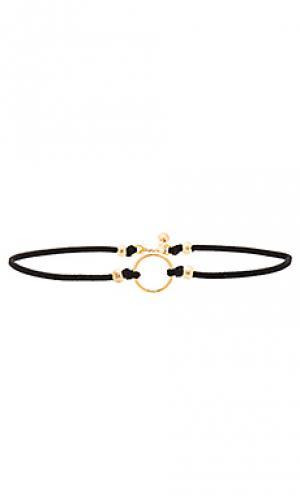 Чокер gold ring Vanessa Mooney. Цвет: черный