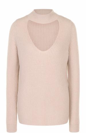 Кашемировый свитер фактурной вязки с разрезом FTC. Цвет: бежевый