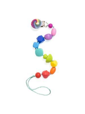 Клипса-держатель из пищевого силикона Радужный iSюминка. Цвет: зеленый, красный, фиолетовый
