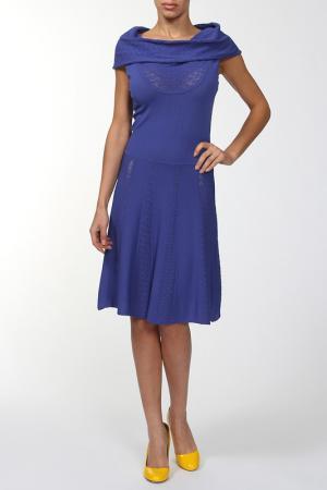 Платье Luisa Spagnoli. Цвет: синий
