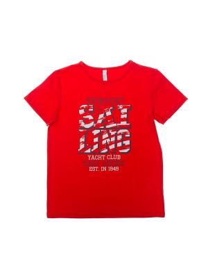 Футболка S`Cool. Цвет: красный