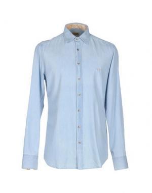 Джинсовая рубашка ALVIERO MARTINI 1A CLASSE. Цвет: синий