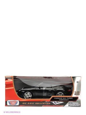 Машина 1к18 Porsche 911 Turbo Cabriolet Motormax. Цвет: черный