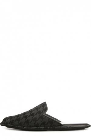 Домашние туфли в клетку Dogtooth Homers At Home. Цвет: черный