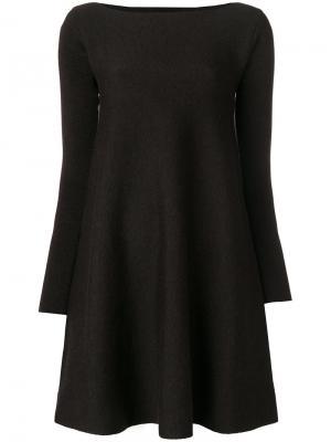 Расклешенное платье Roberto Collina. Цвет: серый