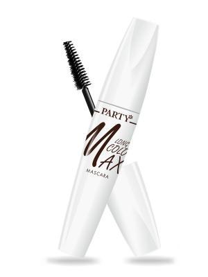 Тушь для ресниц PARTY Максимальный цвет удлиняющая, шоколадная Belor Design. Цвет: коричневый