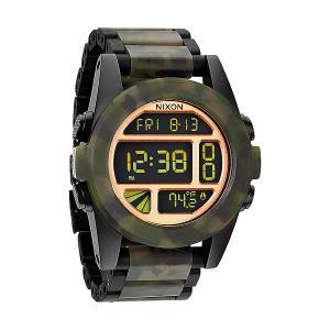 Часы  Unit Ss Matte Black/Camo Nixon. Цвет: камуфляжный