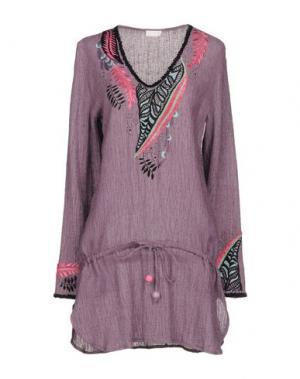 Короткое платье EMAMŌ. Цвет: розовато-лиловый