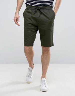 Troy Повседневные шорты со шнурком. Цвет: зеленый