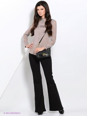 Блузка Valeria Lux. Цвет: светло-коричневый
