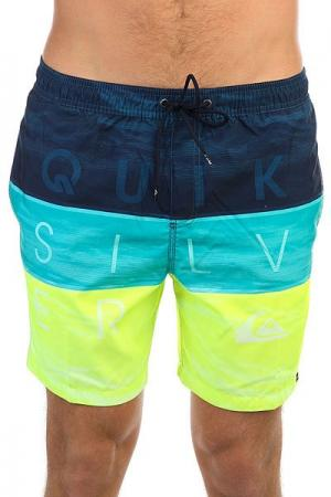 Шорты пляжные  Wordwavevol17 Viridian Green Quiksilver. Цвет: желтый,голубой,синий