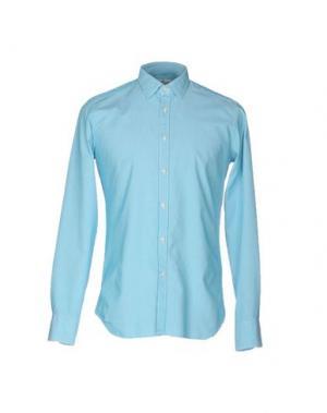 Pубашка BEVILACQUA. Цвет: бирюзовый