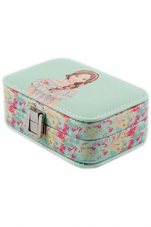 Шкатулка для украшений Русские подарки. Цвет: голубой, розовый