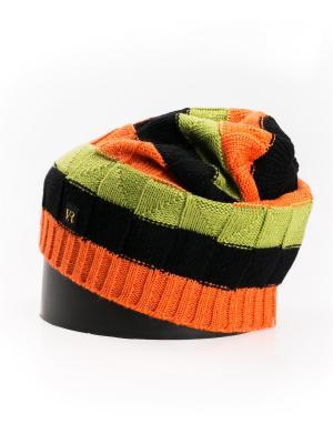 Шапка Vittorio Richi. Цвет: зеленый, оранжевый