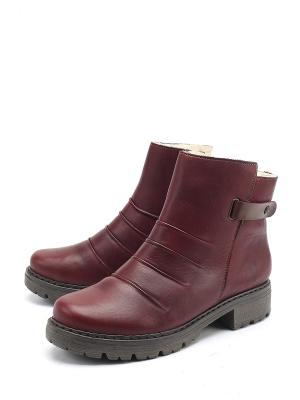 Ботинки Rieker. Цвет: бордовый