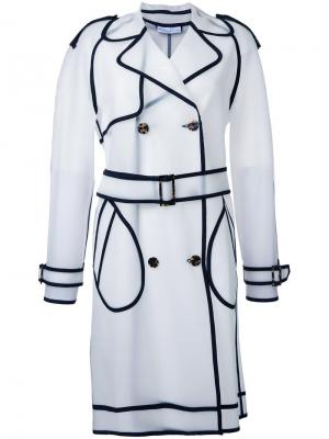 See-through trenchcoat Wanda Nylon. Цвет: зелёный
