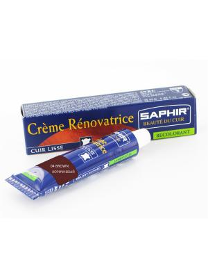 Восстановитель кожи Creme RENOVATRICE, 25 мл. (жидкая кожа)(КОРИЧНЕВЫЙ - 04) Saphir. Цвет: коричневый