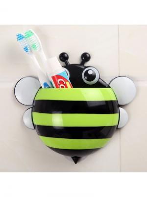 Держатель для зубных щеток и паст Пчёлка RUGES. Цвет: черный, зеленый