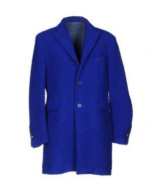 Пальто JOHN SHEEP. Цвет: ярко-синий
